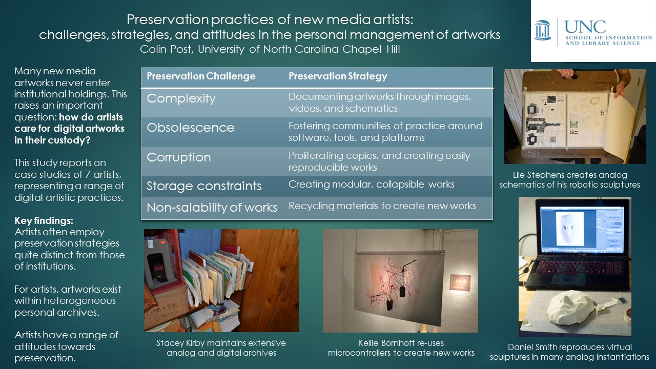 This was a study of how new media artists conceive of the preservation of  their artworks, what preservation concerns arise in the process of  creation, ...