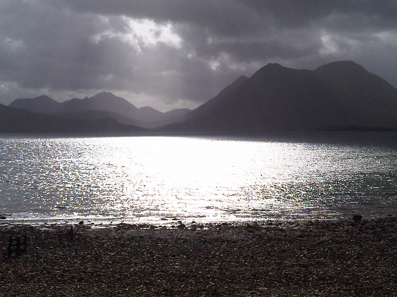 This is Skye as seen from Raasay.  I wish I was here most days.  If only the broadband were better I could work here.