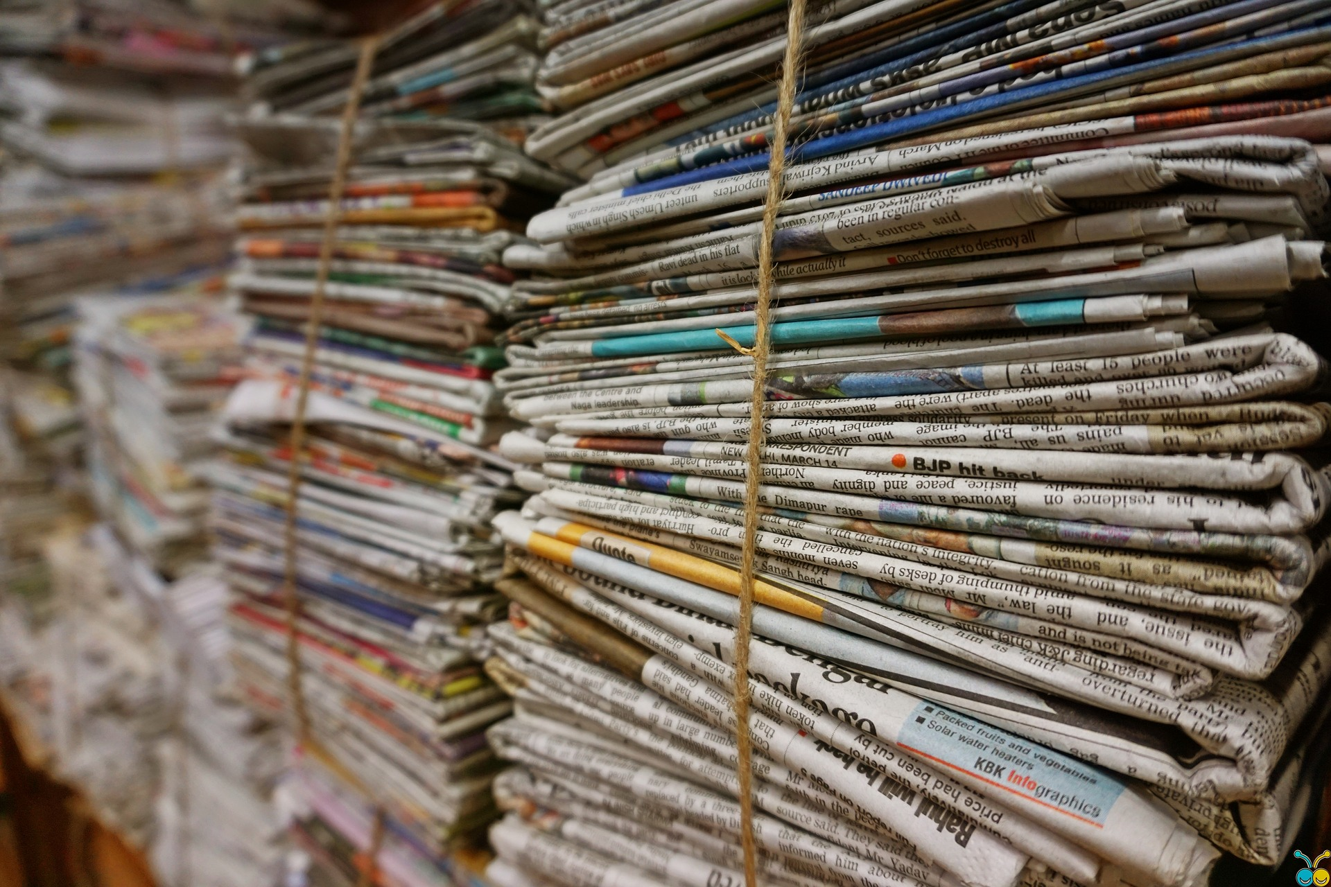 newspaper stack CC open