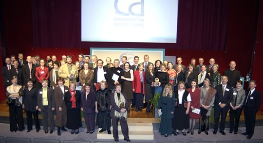 Conservation winners, judges and organisers
