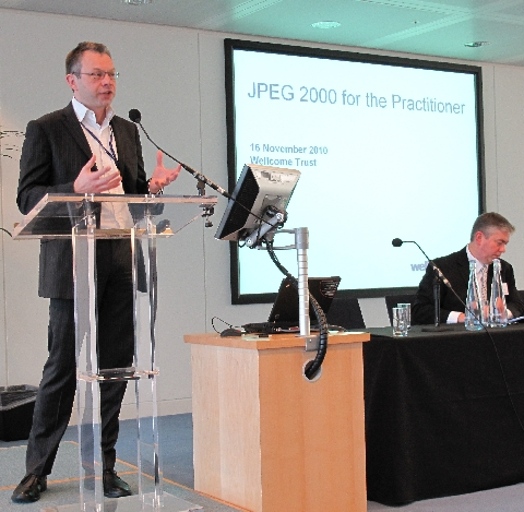 Simon Chaplin opens 'JPEG2000 for the Practitioner'